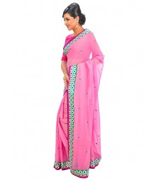 Pink Color Self Design Regular Wear Saree DSCG065