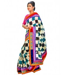Multi Colors Self Design Regular Wear Saree DSCG067