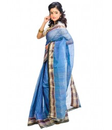Blue Color Self Design Wear Fashion Saree DSCH013
