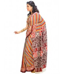 Multi Colors Self Design Wear Fashion Saree DSCH014
