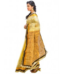 Light Yellow Color Self Design Wear Fashion Saree DSCH022
