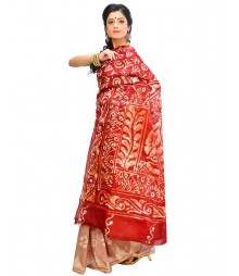 Marron Color Self Design Wear Fashion Saree DSCH027