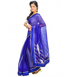 Blue Colors Self Design Ethnic Wear Fashion Saree DSCH032