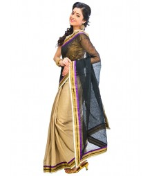 Black & Golden Self Design Ethnic Wear Fashion Saree DSCH046