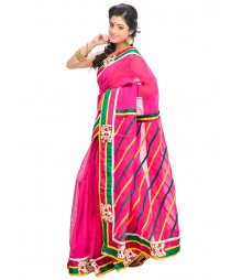 Magenta Self Design Ethnic Wear Fashion Saree DSCH052