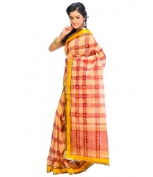 Golden & Marron Self Design Ethnic Wear Fashion Saree DSCH058