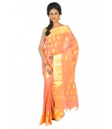Self Design Bengal Handloom Cotton Saree FKB004