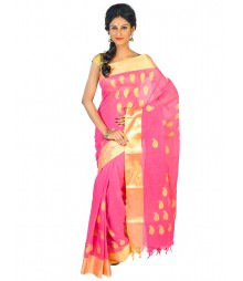 Self Design Bengal Handloom Cotton Saree FKB008
