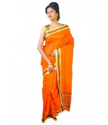 Self Design Bengal Handloom Dhaniakhali Tant Cotton Saree FKB010