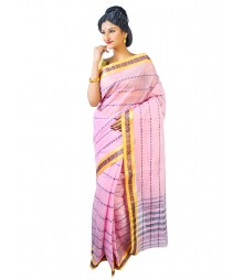 Self Design Bengal Handloom Dhaniakhali Tant Cotton Saree FKB011