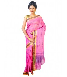 Self Design Bengal Handloom Dhaniakhali Tant Cotton Saree FKB013