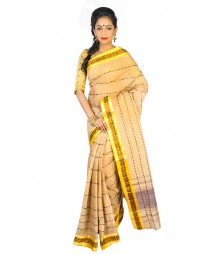 Self Design Bengal Handloom Dhaniakhali Tant Cotton Saree FKB016