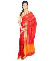 Self Design Bengal Handloom Dhaniakhali Tant Cotton Saree FKB018