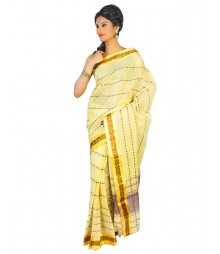 Self Design Bengal Handloom Dhaniakhali Tant Cotton Saree FKB019
