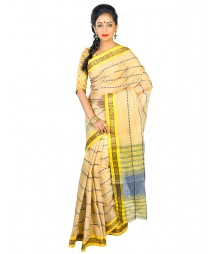 Self Design Bengal Handloom Dhaniakhali Tant Cotton Saree FKB020