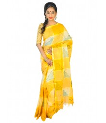 Self Design Bengal Handloom Dhaniakhali Tant Cotton Saree FKB023