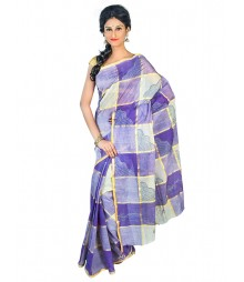 Self Design Bengal Handloom Dhaniakhali Tant Cotton Saree FKB025