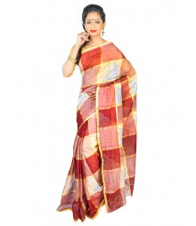 Self Design Bengal Handloom Dhaniakhali Tant Cotton Saree FKB026