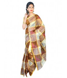 Self Design Bengal Handloom Dhaniakhali Tant Cotton Saree FKB027