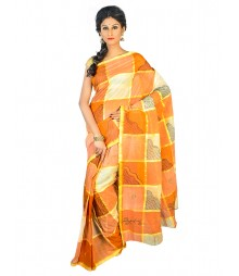 Self Design Bengal Handloom Dhaniakhali Tant Cotton Saree FKB028
