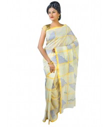 Self Design Bengal Handloom Dhaniakhali Tant Cotton Saree FKB030