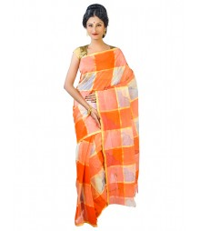 Self Design Bengal Handloom Dhaniakhali Tant Cotton Saree FKB031