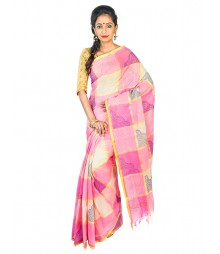 Self Design Bengal Handloom Dhaniakhali Tant Cotton Saree FKB032