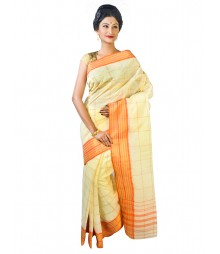 Self Design Bengal Handloom Dhaniakhali Tant Cotton Saree FKB033