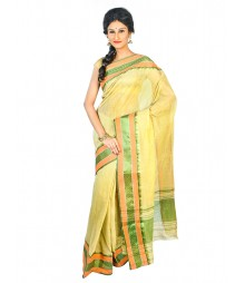 Self Design Bengal Handloom Dhaniakhali Tant Cotton Saree FKB035