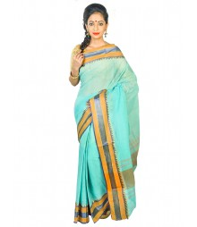 Self Design Bengal Handloom Dhaniakhali Tant Cotton Saree FKB036
