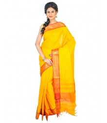 Self Design Bengal Handloom Dhaniakhali Tant Cotton Saree FKB037