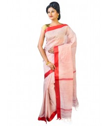 Self Design Bengal Handloom Dhaniakhali Tant Cotton Saree FKB038