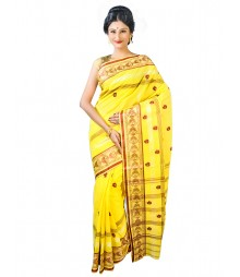 Self Design Bengal Handloom Dhaniakhali Tant Cotton Saree FKB042