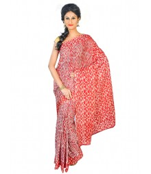 Self Design Bengali Hand Batik Saree FKB044