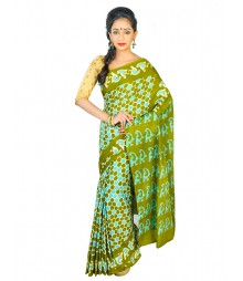 Self Design Bengali Hand Batik Saree FKB046