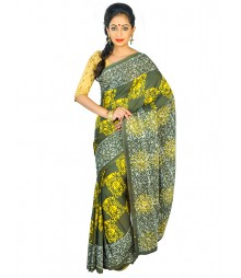Self Design Bengali Hand Batik Saree FKB048