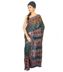 Self Design Bengali Hand Batik Saree FKB049