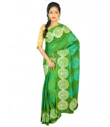 Self Design Bengali Hand Batik Saree FKB050