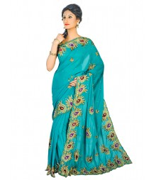 Self Design Hand Zari Work Party Wear Saree FKB056