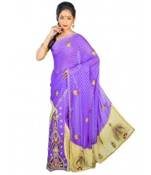 Self Design Hand Zari Work Party Wear Saree FKB057