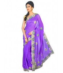 Self Design Hand Zari Work Party Wear Saree FKB058