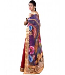 Red & Blue Stunning Designer Saree MDL-S-SR1-001