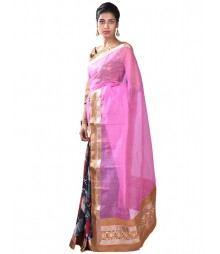 Pink & Golden Ravishing Fusion Collection Saree MDL-S-SR1-005