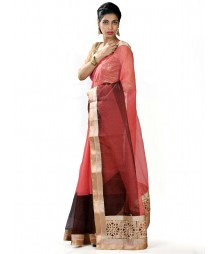 Orange & Coffe Fusion Designer Collection Saree MDL-S-SR1-007