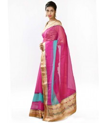 Charming Magenta & Aqua Designer Collection Saree MDL-S-SR1-009