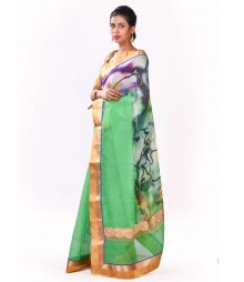 Green & Golden Designer Chicsee Collection Saree MDL-S-SR1-010