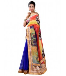 Royal Blue & Orange Designer Collection Saree MDL-S-SR1-011