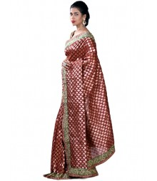 Self Designer Pure Banaras Chanderi Silk Saree MDL-S-SR1-013