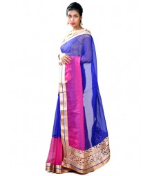 Pink & Royal Blue Ravishing Designer Collection Saree MDL-S-SR1-020