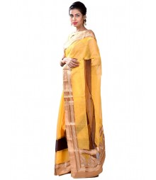 Yellow Gorgeous Fusion Collection Saree MDL-S-SR1-021